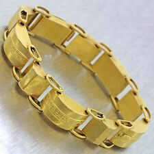 1880s Antique Victorian Women's Estate 21k Solid Yellow Gold Engraved Bracelet