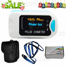 CMS50N OLED Finger Tip Pulse Oximeter Blood Oxygen Spo2+Carry Case+Lanyard