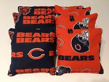 CHICAGO BEARS CORNHOLE BEAN BAGS SET OF 8 TOP QUALITY TOSS GAME