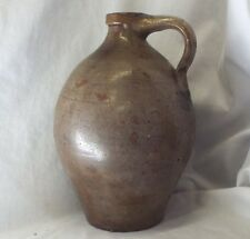 OLD Antique G. BAIRD STONEWARE OVOID JUG Salt Glaze COBALT BLUE DECORATION Ohio