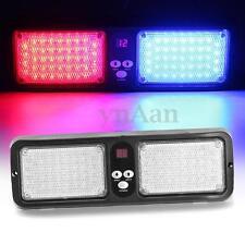 12V 86 LED Car Emergency Warning Sun Visor Flash Strobe Light Lamp Blue&Red