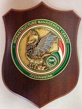 """Crest """"IMC - INFRASTRUCTURE MANAGEMENT CENTER - ISAF AFGHANISTAN"""" - (Originale)"""