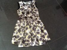 NWT Juicy Couture New Ladies Small Black & Yellow Satin Party Dress UK 8/10