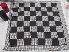 Jumbo 3 in 1 28 in. Square Checker Rug Game Tic Tac Toe Outdoor Classroom Beach