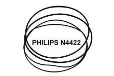 SET BELTS PHILIPS N4422 REEL TO REEL EXTRA STRONG NEW FACTORY FRESH N 4422
