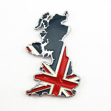 100% Metal 3D UK England Map Flag Emblem Badge Car 3M Decal Sticker Car Body Kit