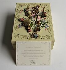 Joan Rivers Complete 19 Pc Victorian Language of Flowers Charm Necklace W/COA
