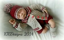 Knitting pattern not clothes to knit baby boys cardigan pram set dk George