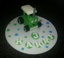 Edible handmade Tractor cake topper/decoration, personalised