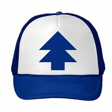 Trucker Curved Bill  'BLUE PINE TREE' Dipper Gravity Falls Hat Cap