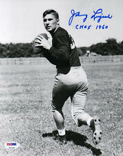 JOHNNY LUJACK SIGNED AUTOGRAPHED 8x10 PHOTO + CHOF 1960 NOTRE DAME PSA/DNA