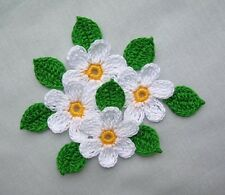 Crochet  Daisy Flowers Appliques,Embellishments,Scrapbook,Crafts,Supplies,SUMMER