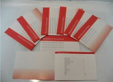 Generic Service History Book Suitable For A1, A2, A3, A4, A5, A6, A7, A8, TT Red