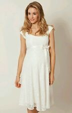 Rose Maternity or wedding eliza dress white - size S