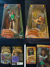 Lara Croft Tomb Raider Action Figure Lot Sale Area 51 Jungle Outfit Bomber MINT