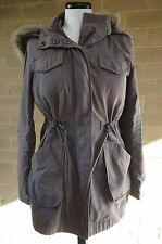 FOREVER NEW Hooded Winter Coat w Removable Sherpa Liner Jacket Sz 8