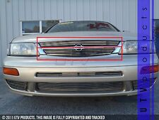 GTG, FITS: 1997 - 1999 NISSAN MAXIMA 2pc CHROME UPPER BILLET GRILLE KIT