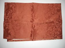 JC Penney JCP Orange Fully Lined Curtain Panel 40 x 62 Rod Pocket