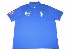 Polo Ralph Lauren Royal Blue White Big Pony Yacht Club Rugby Shirt 3XL 3XB