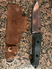 Benchmade 162-1 Bushcrafter Fixed Blade Knife - Leather Sheath - S30V