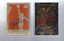 MICHAEL JORDAN 1997 EX-2000 & 1986 ROOKIE 23KT GOLD AUTOGRAPHED 2 CARD LOT!