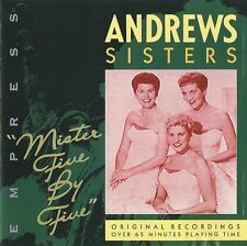 "THE ANDREWS SISTERS ""Mister Five By Five"" EMPRESS RAJCD 869 [CD]"