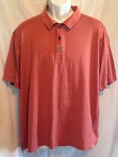 TASSO ELLA Golf Polo Shirt Double Mercerized 100% Pina Cotton Mans Size L EUC