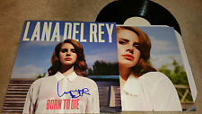 Lana Del Rey Born to die autograph signed LP album