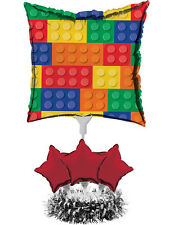 Lego Inspired Block Birthday Party Decoration Air Fill Balloon Centrepiece Kit