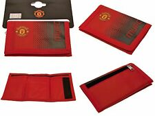 MANCHESTER UNITED FC NYLON CLUB CRESTED MONEY WALLET CASH & CREDIT CARD MUFC