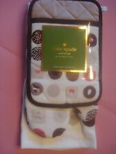 KATE SPADE KITCHEN TOWEL OVEN MITT POT HOLDER GIFT SET  BON BONS 3 PIECE SET