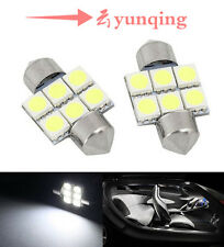 2xWhite 31mm 6-SMD LED 5050 Car Dome Festoon Licence Lights Lamps interior parts