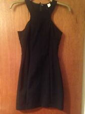 Black H&M Bodycon Cut Out Panel Silky Dress Party Ball LBD 8 / 34 Christmas xmas