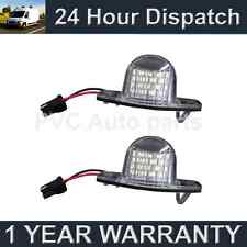2X FOR HONDA CRV CR-V STREAM LOGO WHITE LED NUMBER PLATE LIGHT LAMPS