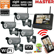 Wireless Home Security System Cameras Home CCTV WIFI Backup Remote Monitoring