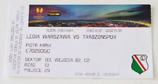 Ticket for collectors EL Legia Warszawa Trabzonspor Kulubu 2013 Poland Turkey