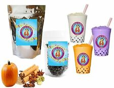 10+ Drinks Pumpkin Spice Kit:Tea Powder, Bubbles & Straws by Buddha Bubbles Boba