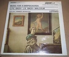 Leppard BACH/MALCOLM Music for 4 Harpsichords - London STS 15075 SEALED