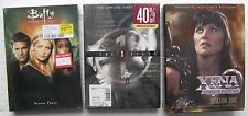 3 DVD SETS - Buffy the Vampire Slayer,X-Files first season,Xena Warrior Princess