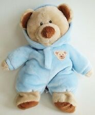 "Ty Pluffies PJ Blue Bear Cub Non Removable Pajamas 11"" Plush Tylux 2012 MWOT"