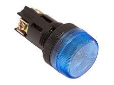 NPL-22 ATI Blue LED Pilot Indicator Light 22mm 120V AC/DC Replaceable Lamp