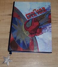 Disney Store Marvel Captain America Civil War Journal Diary Notebook Copybook