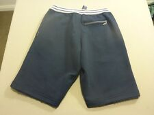 037 WOMENS EX-COND EVERLAST NAVY / WHITE EMBROIDERED TRACK SHORTS MEDM $70 RRP.