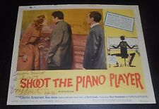 Signed FRANCOIS TRUFFAUT Shoot The Piano Player Charles Aznavour Marie Dubois'62