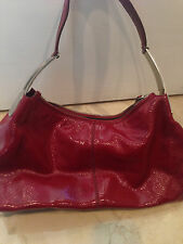 TOD'S Hobo Handbag Red Patent Leather!!!  Preowned!!! Great condition!Small  EF