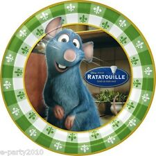 RATATOUILLE LARGE PAPER PLATES (8) ~ Birthday Party Supplies Dinner Luncheon