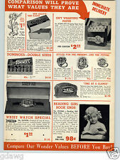 1938 PAPER AD Pennwood Jump Hour Electric Clock Zephyr Ball Water Jug Bowls