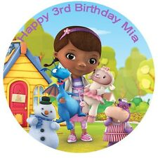 1 x Doc Mcstuffins 19cm round personalised cake topper edible image