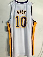 Adidas Swingman NBA Jersey Lakers Steve Nash White sz 4X