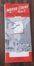 Eastern Motor Court Map 2 1959 NE US and Ontario Canada